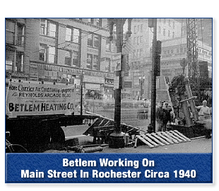 Betlem Working On Main Street In The City of Rochester, New York